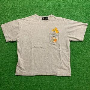 Vintage The Flintstones Cartoon Pocket T Shirt